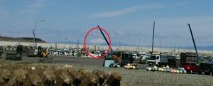 羊蹄山を赤丸で囲ってみた・・・。